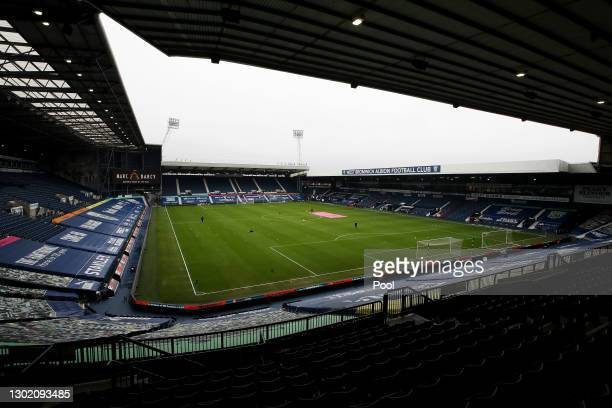 General view inside the stadium prior to the Premier League match between West Bromwich Albion and Manchester United at The Hawthorns on February 14,...