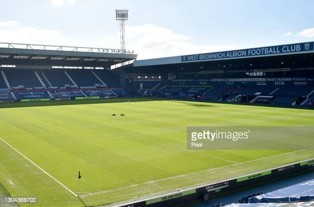 General view inside the stadium prior to the Premier League match between West Bromwich Albion and Brighton & Hove Albion at The Hawthorns on...