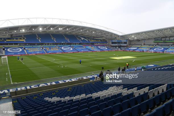General view inside the stadium prior to the Premier League match between Brighton & Hove Albion and Leeds United at American Express Community...