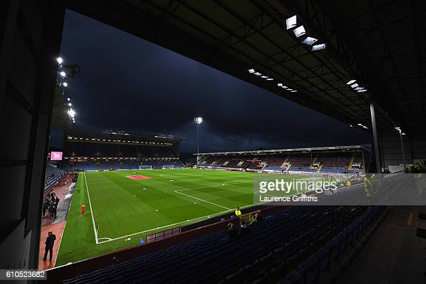 A general view inside the stadium prior to the Premier League match between Burnley and Watford at Turf Moor on September 26 2016 in Burnley England