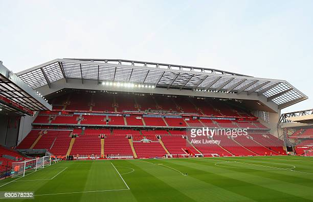A general view inside the stadium prior to the Premier League match between Liverpool and Stoke City at Anfield on December 27 2016 in Liverpool...