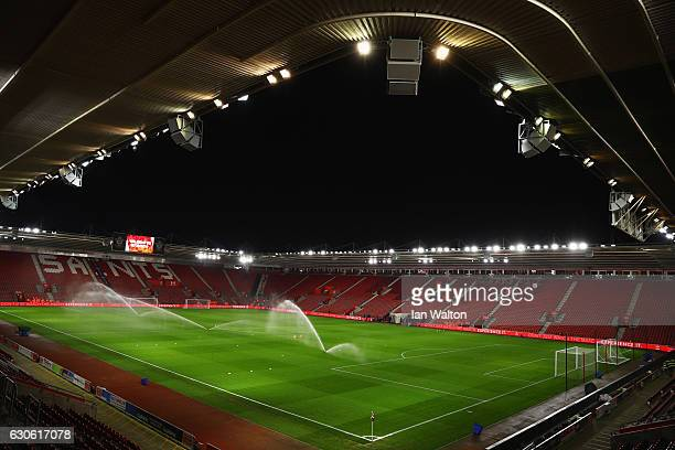A general view inside the stadium prior to the Premier League match between Southampton and Tottenham Hotspur at St Mary's Stadium on December 28...