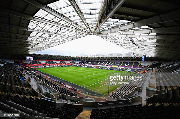 A general view inside the stadium prior to the Premier League match between Swansea City and Arsenal at Liberty Stadium on January 14 2017 in Swansea...