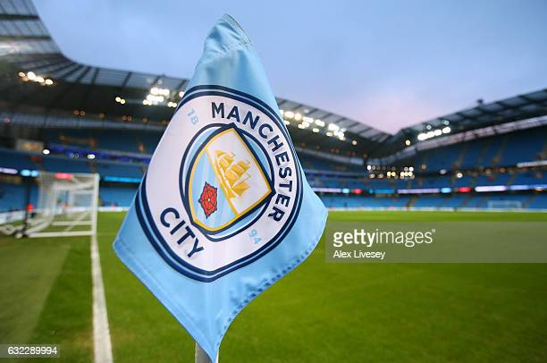 General view inside the stadium prior to the Premier League match between Manchester City and Tottenham Hotspur at the Etihad Stadium on January 21...