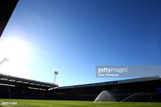 General view inside the stadium prior to the Premier League match between West Bromwich Albion and Stoke City at The Hawthorns on February 4, 2017 in...