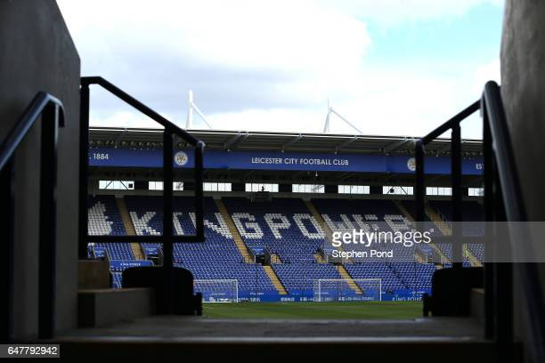 General view inside the stadium prior to the Premier League match between Leicester City and Hull City at The King Power Stadium on March 4 2017 in...