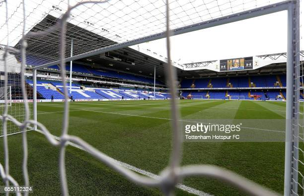 A general view inside the stadium prior to the Premier League match between Tottenham Hotspur and Southampton at White Hart Lane on March 19 2017 in...