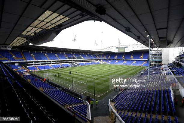 General view inside the stadium prior to the Premier League match between Tottenham Hotspur and AFC Bournemouth at White Hart Lane on April 15 2017...