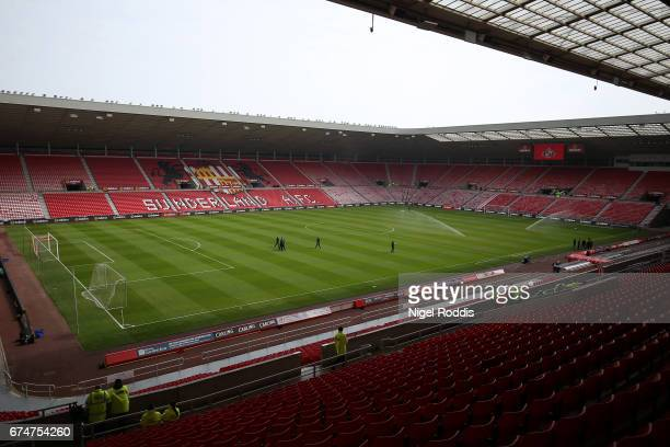 General view inside the stadium prior to the Premier League match between Sunderland and AFC Bournemouth at the Stadium of Light on April 29, 2017 in...