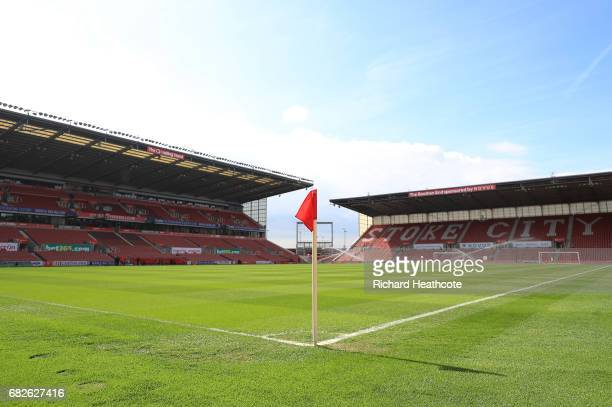 General view inside the stadium prior to the Premier League match between Stoke City and Arsenal at Bet365 Stadium on May 13 2017 in Stoke on Trent...