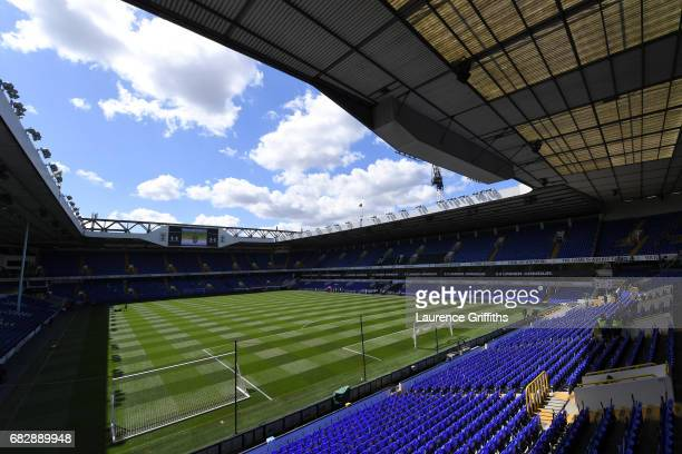 General view inside the stadium prior to the Premier League match between Tottenham Hotspur and Manchester United at White Hart Lane on May 14 2017...