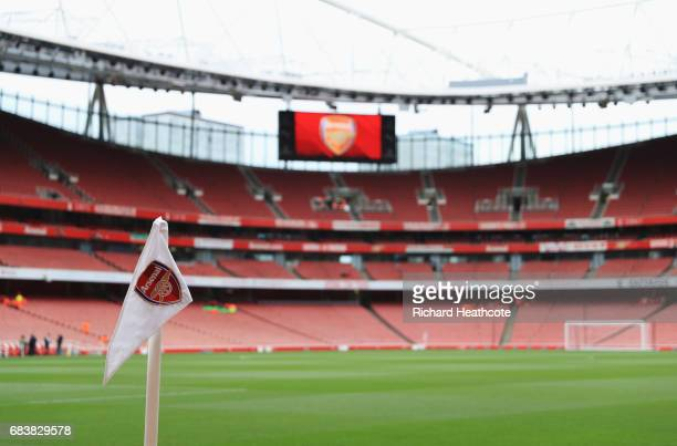 General view inside the stadium prior to the Premier League match between Arsenal and Sunderland at Emirates Stadium on May 16 2017 in London England