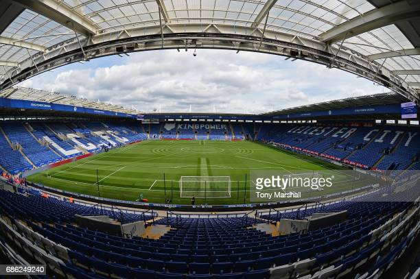 General view inside the stadium prior to the Premier League match between Leicester City and AFC Bournemouth at The King Power Stadium on May 21 2017...