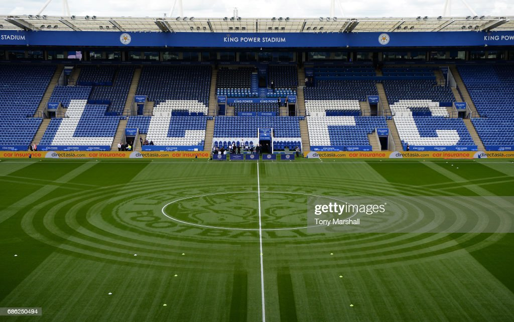 General view inside the stadium prior to the Premier League match between Leicester City and AFC Bournemouth at The King Power Stadium on May 21, 2017 in Leicester, England.