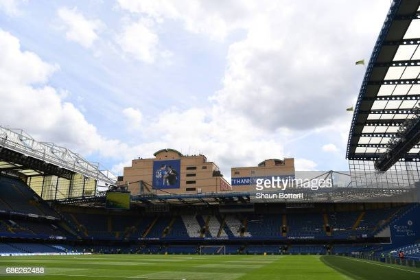 General view inside the stadium prior to the Premier League match between Chelsea and Sunderland at Stamford Bridge on May 21 2017 in London England