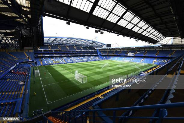 General view inside the stadium prior to the Premier League match between Chelsea and Burnley at Stamford Bridge on August 12 2017 in London England