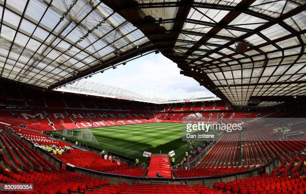 General view inside the stadium prior to the Premier League match between Manchester United and West Ham United at Old Trafford on August 13 2017 in...