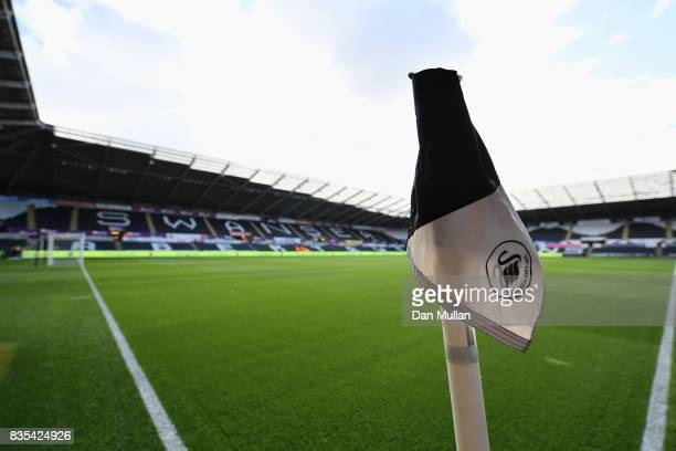 General view inside the stadium prior to the Premier League match between Swansea City and Manchester United at Liberty Stadium on August 19 2017 in...