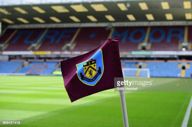 General view inside the stadium prior to the Premier League match between Burnley and West Bromwich Albion at Turf Moor on August 19 2017 in Burnley...