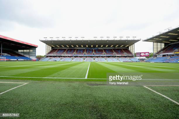 General view inside the stadium prior to the Premier League match between Burnley and West Bromwich Albion at Turf Moor on August 19, 2017 in...