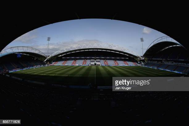 General view inside the stadium prior to the Premier League match between Huddersfield Town and Newcastle United at John Smith's Stadium on August 20...