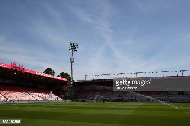 A general view inside the stadium prior to the Premier League match between AFC Bournemouth and Manchester City at Vitality Stadium on August 26 2017...