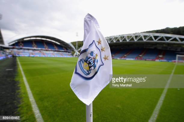 General view inside the stadium prior to the Premier League match between Huddersfield Town and Southampton at Galpharm Stadium on August 26 2017 in...