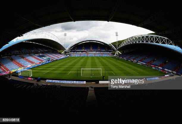 General view inside the stadium prior to the Premier League match between Huddersfield Town and Southampton at John Smith's Stadium on August 26 2017...