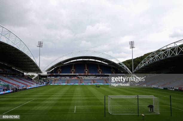 A general view inside the stadium prior to the Premier League match between Huddersfield Town and Southampton at John Smith's Stadium on August 26...