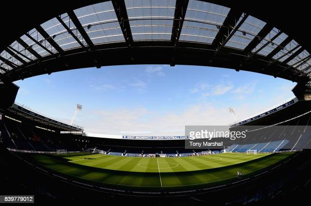 General view inside the stadium prior to the Premier League match between West Bromwich Albion and Stoke City at The Hawthorns on August 27, 2017 in...