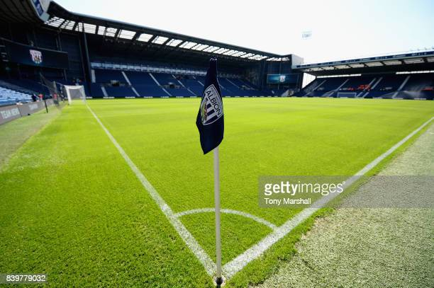 General view inside the stadium prior to the Premier League match between West Bromwich Albion and Stoke City at The Hawthorns on August 27 2017 in...
