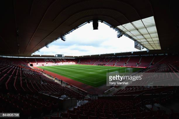 A general view inside the stadium prior to the Premier League match between Southampton and Watford at St Mary's Stadium on September 9 2017 in...