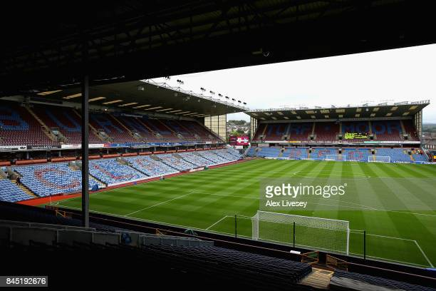 A general view inside the stadium prior to the Premier League match between Burnley and Crystal Palace at Turf Moor on September 10 2017 in Burnley...