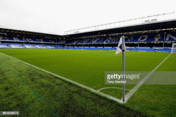 General view inside the stadium prior to the Premier League match between Everton and Arsenal at Goodison Park on October 22 2017 in Liverpool England