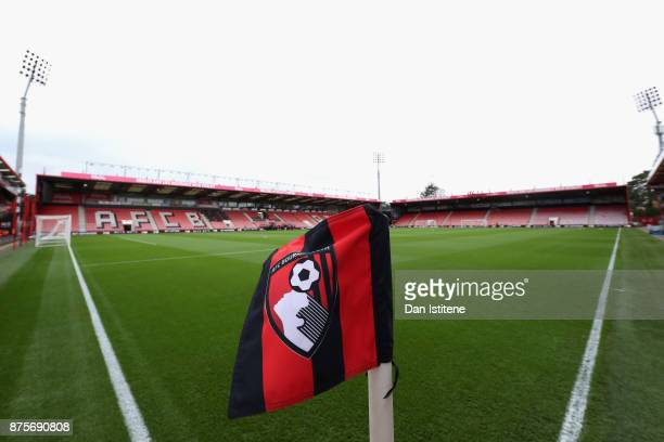 General view inside the stadium prior to the Premier League match between AFC Bournemouth and Huddersfield Town at Vitality Stadium on November 18...