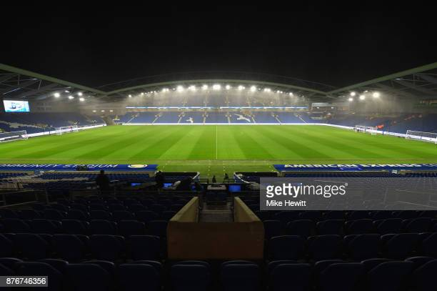 A general view inside the stadium prior to the Premier League match between Brighton and Hove Albion and Stoke City at Amex Stadium on November 20...