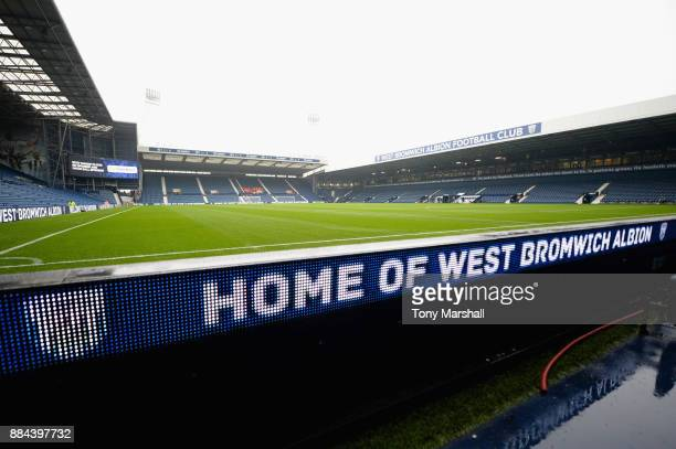 General view inside the stadium prior to the Premier League match between West Bromwich Albion and Crystal Palace at The Hawthorns on December 2 2017...