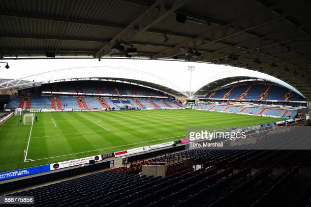 General view inside the stadium prior to the Premier League match between Huddersfield Town and Brighton and Hove Albion at John Smith's Stadium on...