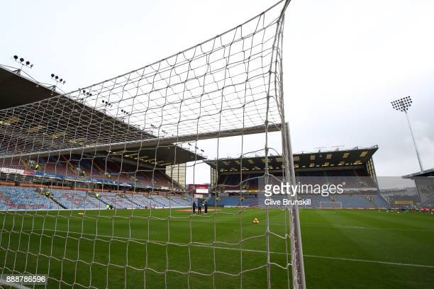General view inside the stadium prior to the Premier League match between Burnley and Watford at Turf Moor on December 9 2017 in Burnley England