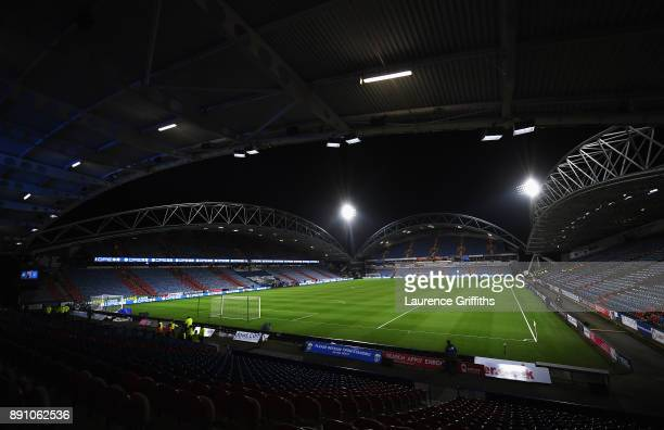 General view inside the stadium prior to the Premier League match between Huddersfield Town and Chelsea at John Smith's Stadium on December 12 2017...