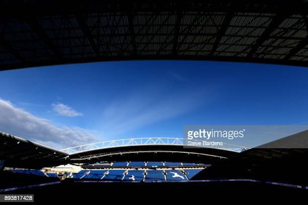 General view inside the stadium prior to the Premier League match between Brighton and Hove Albion and Burnley at Amex Stadium on December 16 2017 in...