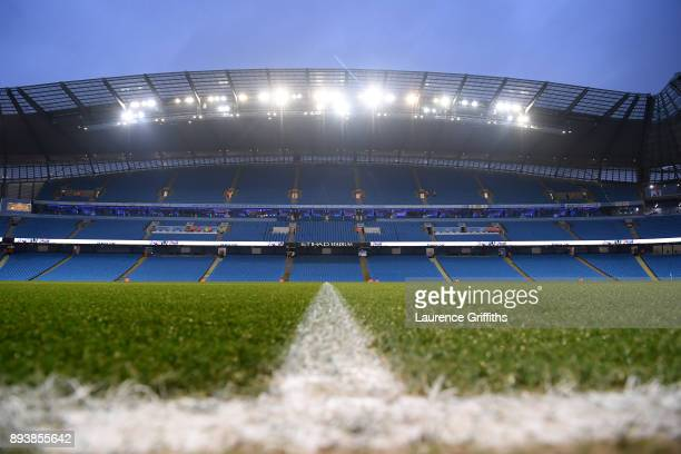 General view inside the stadium prior to the Premier League match between Manchester City and Tottenham Hotspur at Etihad Stadium on December 16 2017...