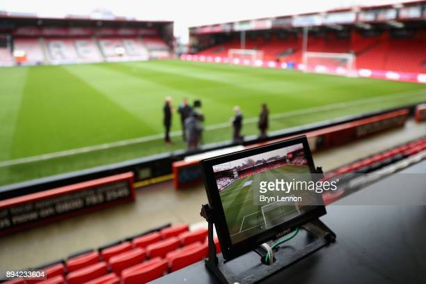 General view inside the stadium prior to the Premier League match between AFC Bournemouth and Liverpool at Vitality Stadium on December 17 2017 in...