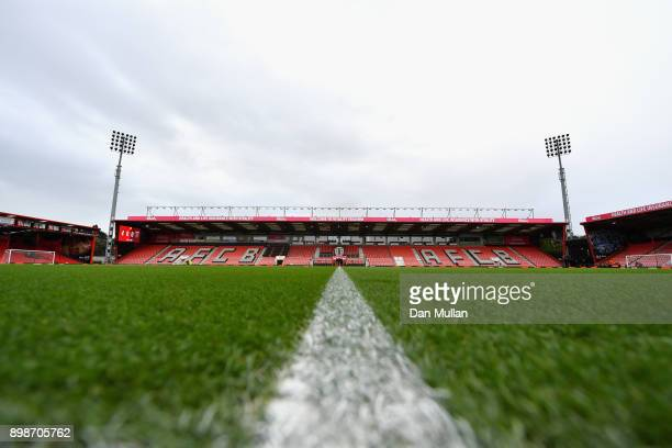 General view inside the stadium prior to the Premier League match between AFC Bournemouth and West Ham United at Vitality Stadium on December 26 2017...