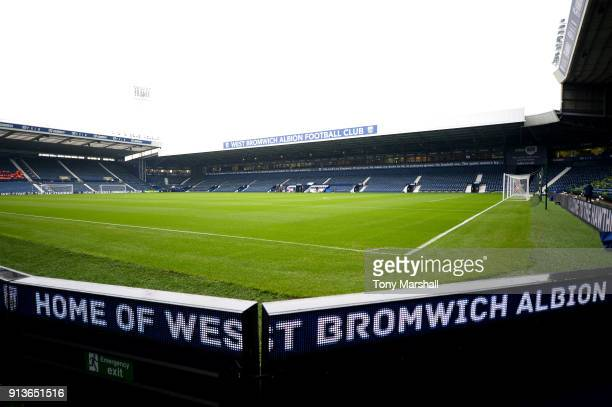 General view inside the stadium prior to the Premier League match between West Bromwich Albion and Southampton at The Hawthorns on February 3 2018 in...