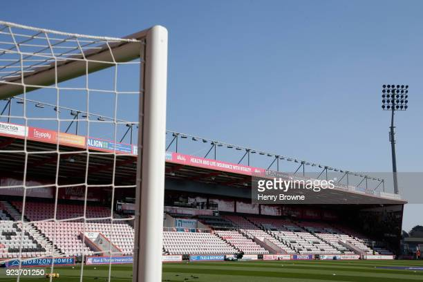 General view inside the stadium prior to the Premier League match between AFC Bournemouth and Newcastle United at Vitality Stadium on February 24...