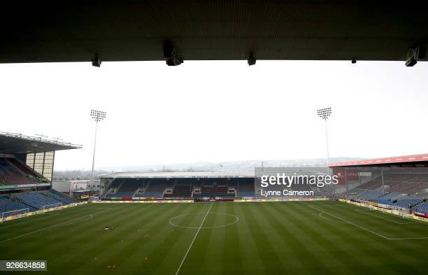 A general view inside the stadium prior to the Premier League match between Burnley and Everton at Turf Moor on March 3 2018 in Burnley England