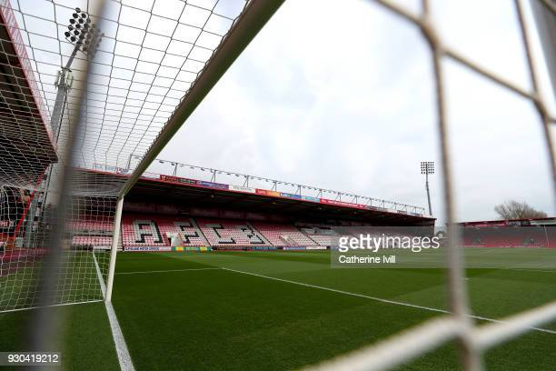 General view inside the stadium prior to the Premier League match between AFC Bournemouth and Tottenham Hotspur at Vitality Stadium on March 11 2018...
