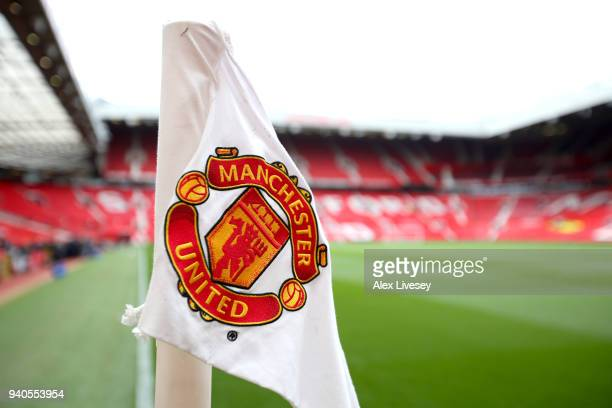 General view inside the stadium prior to the Premier League match between Manchester United and Swansea City at Old Trafford on March 31 2018 in...
