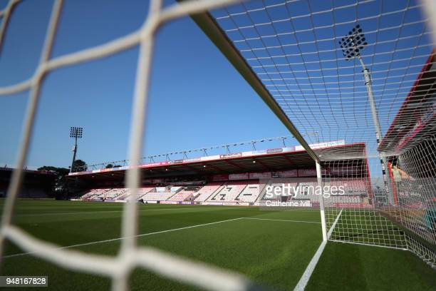 General view inside the stadium prior to the Premier League match between AFC Bournemouth and Manchester United at Vitality Stadium on April 18 2018...